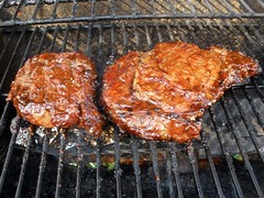 Rib-eye Steaks - Grilled and Smoked