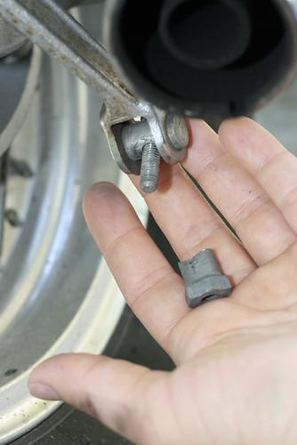 rear brake adjustment nut