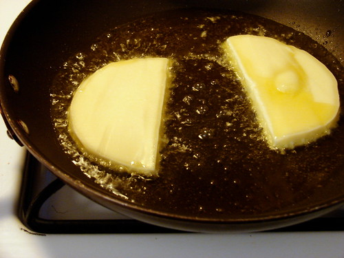 provolone, frying