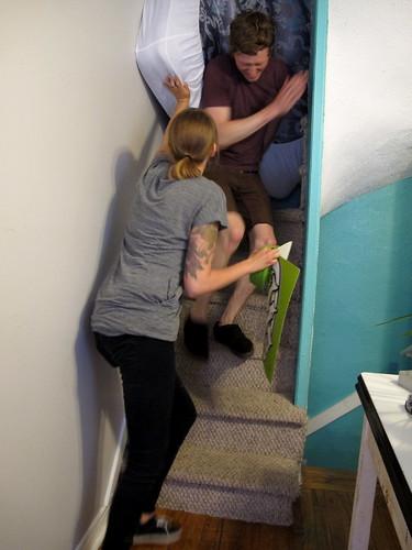 Helping Juli move