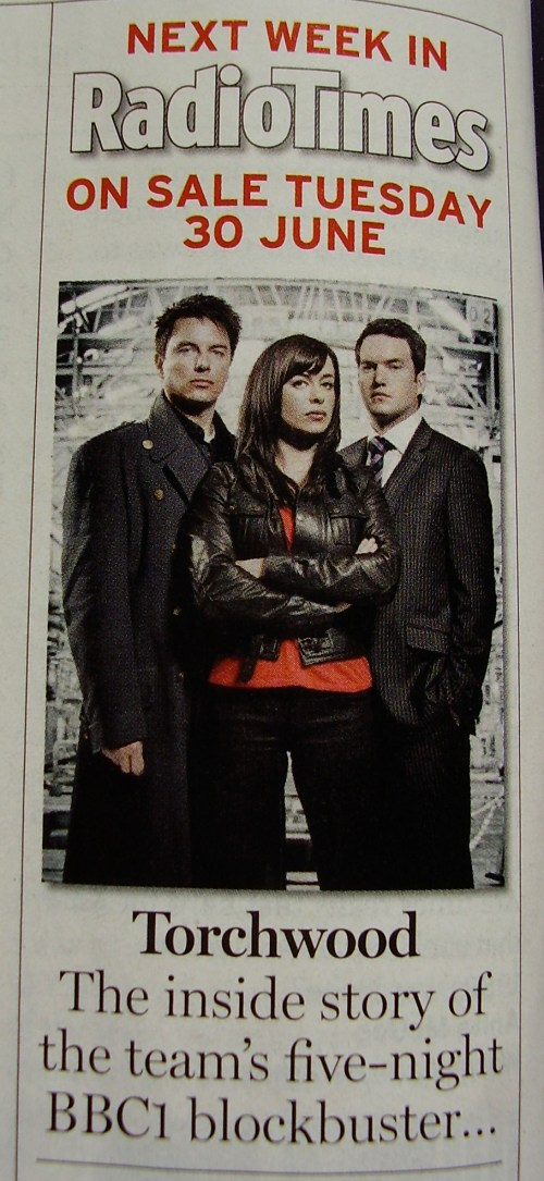 "RADIO TIMES - ""Next Week"" Torchwood"