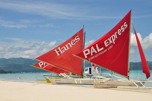 Paraws in Boracay