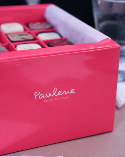 A box of chocolates by Paulene Chocolats Suisses