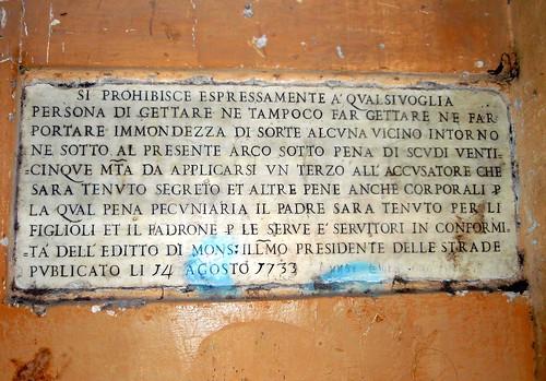 Roma-Via dei Capellari, cartellone