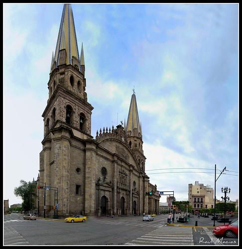 Panoramica Catedral Centro Guadalajara Jalisco Mexico