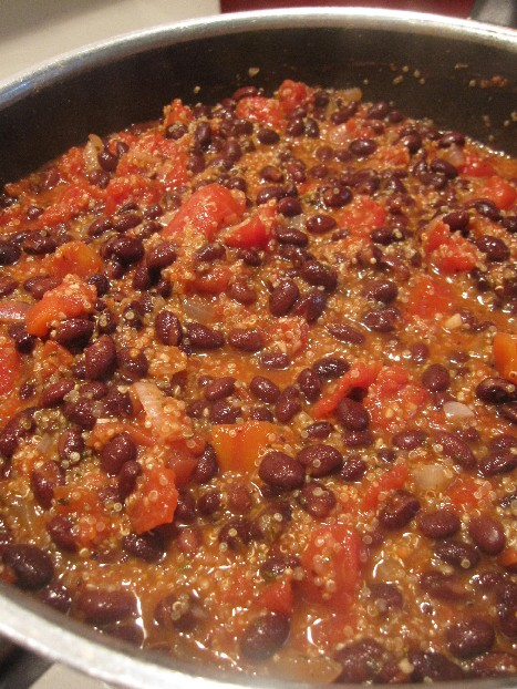 Cooking Quinoa Chili