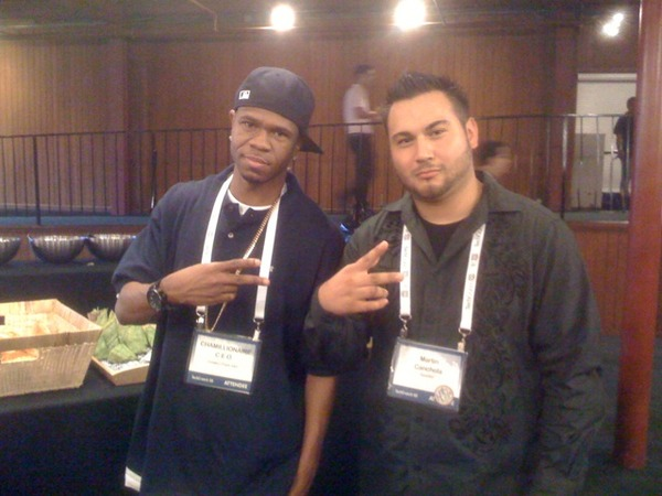 Martin Canchola meets Chamillionaire at TechCrunch 50