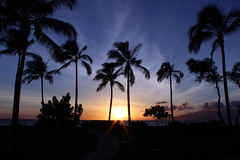 Sunset from Ka'annapali, Maui, Hawaiian Islands