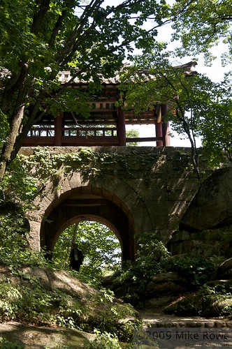 Old gateway above Bakyeon Waterfall