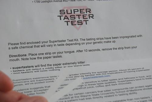 Super Taster Test
