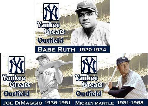 Yankee Greats Outfielders