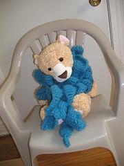 Fluffy cascade scarf