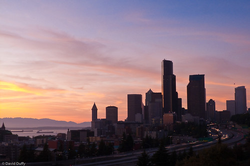Seattle at sunset, from Beacon Hill
