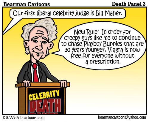 8 17 09 Bearman Cartoon DeathPanel3 copy