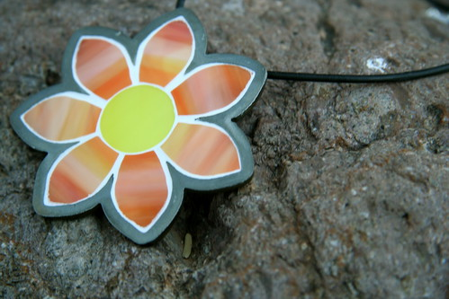 Glass Mosaic Necklace by Velvet Glass