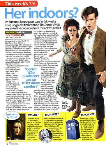 Total TV Guide 14-20 May 2011 Doctor Who feature