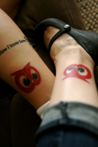 matching Red Owl tattoos