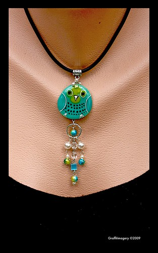 Introducing...BINDI BIRD! Fused Glass pendant series by Sandra Miller ©2009 by you.