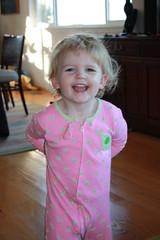 Claire in her pyjamas