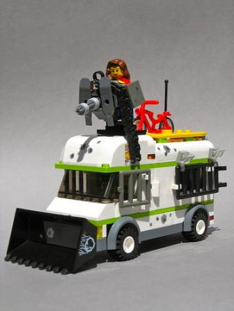 LEGO zombie survivor camper