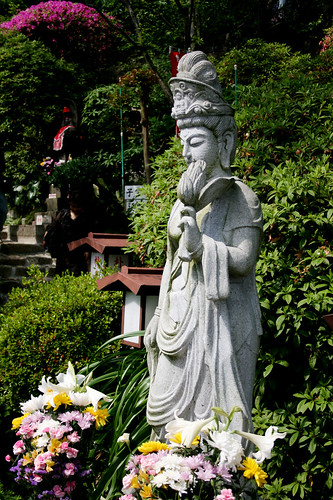 A smaller statue of the goddess