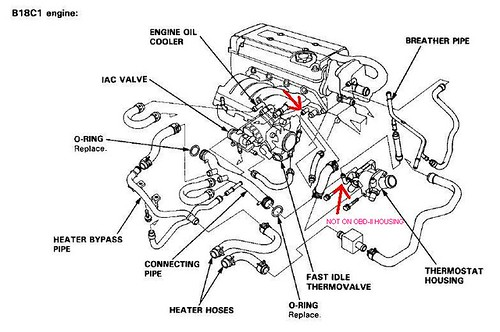 Honda 93 Civic Coolant Diagram