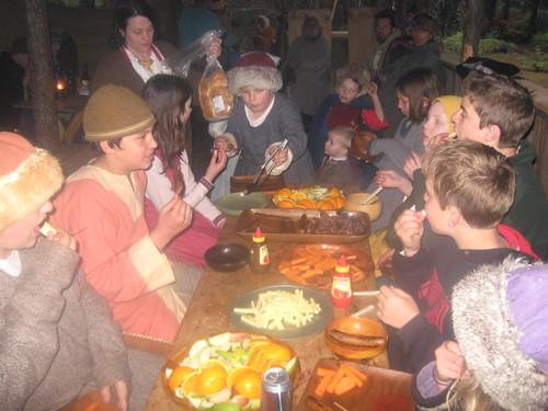 Kids dinner in the tavern