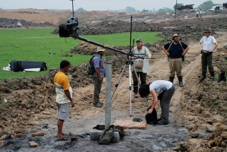 Dreharbeiten mit Hartwig Gielisch in Samdih
