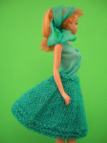 vintage hand knit Barbie doll clothes 005