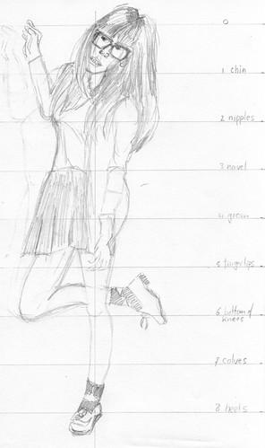Clothed figure sketch 1 (2011-06-06)