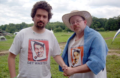 20090705 - X-Day - GEDC0385 - Clint, Christopher Lee - a meeting of the shirts