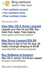 Bing Shopping - Snow Leopard Sponsored Links