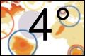 4 deg rise in temperature map