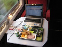 Wifi & breakfast on train