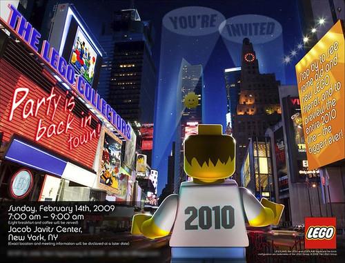 LEGO Toy Fair 2010 Invitation