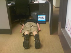 Cubicle worker FAIL.  For the FDT (Face Down Tuesday) group