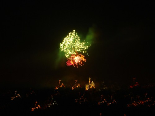 Fireworks in Antwerp (view from our balcony)