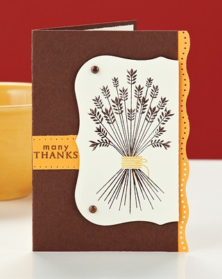 Stephanie Muzzulins Many Thanks Card appears in our November/December issue.