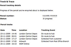 Parcel Force Tracking