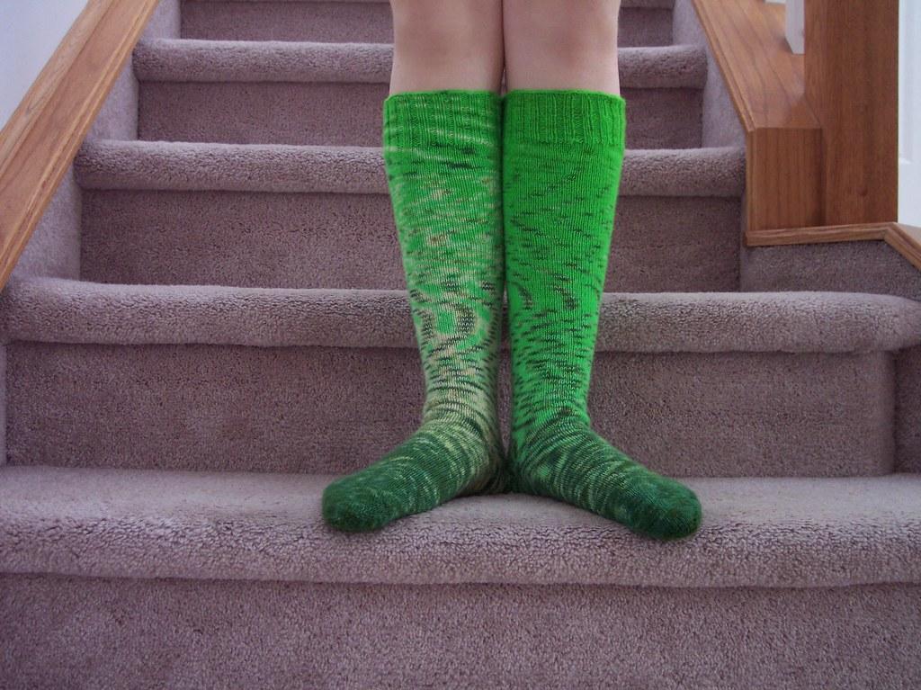 kneehigh socks handdyed