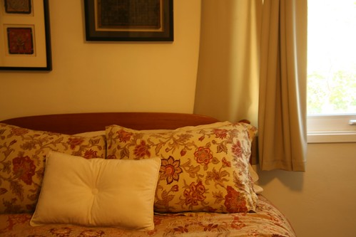 Spruced up bed, ready for sale.