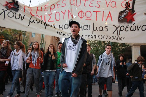 Athens Polytechnic uprising protest 2009 16:42:29.jpg