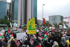 Gövde gösterisinde Dişe diş kana kana intikam intikam sloganı atıldı