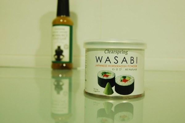 Vinagre de arroz y wasabi