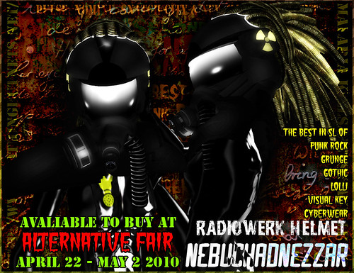 First Annual Alternative Fair in Second Life : Radiowerk Helmet Avaliable to Purchase!