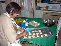 Glazing the empanadas