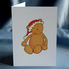 xmas card - christmas bear