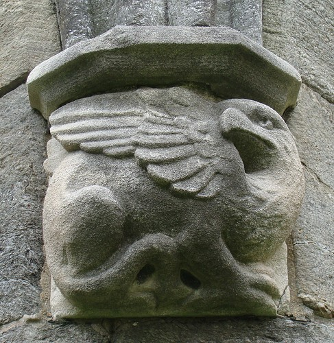 Gryphon gargoyle, Bryn Mawr college