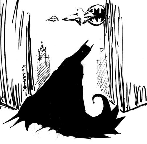 Batman Silo-Sketch