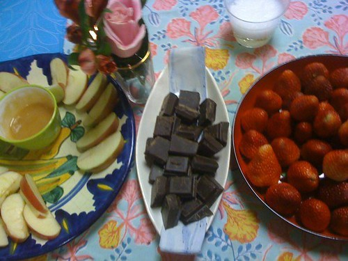 Shana Tova + over a pound of chocolate + upsidedown strawberries